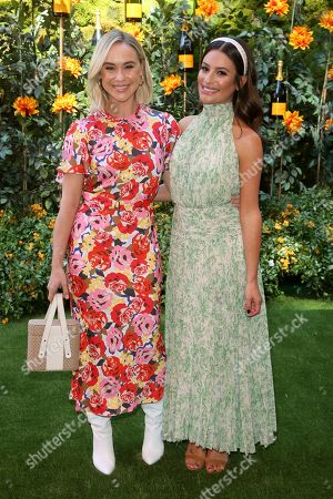Becca Tobin, Lea Michelle. Becca Tobin, left, and Lea Michelle attend the 10th Annual Veuve Clicquot Polo Classic at Will Rogers State Historic Park, in Los Angeles, Calif