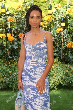 Stock Picture of Nesta Cooper attends the 10th Annual Veuve Clicquot Polo Classic at Will Rogers State Historic Park, in Los Angeles, Calif
