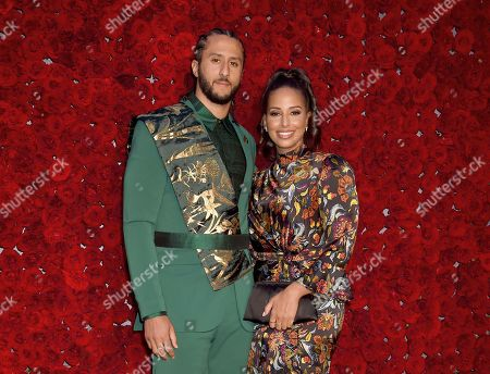 Stock Picture of Colin Kaepernick and Nessa Diab