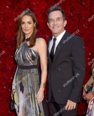 Stock Image of Lisa Ann Russell and Jeff Probst