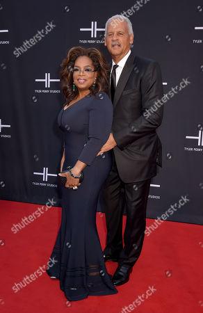Stock Image of Oprah Winfrey and Stedman Graham
