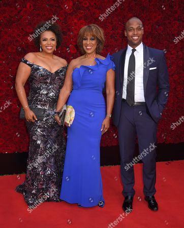 Stock Picture of Kirby Bumpus, Gayle King and son William Bumpus Jr..