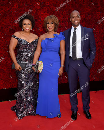 Kirby Bumpus, Gayle King and son William Bumpus Jr..