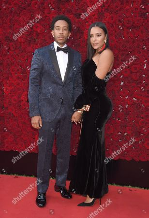 Stock Image of Ludacris and wife Eudoxie Mbouguiengue
