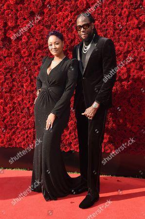 2 Chainz and wife Kesha Ward