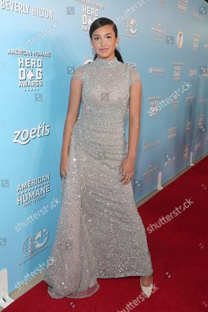 Sofia Wylie is seen at the 2019 American Humane Hero Dog Awards at The Beverly Hilton, in Beverly Hills, Calif