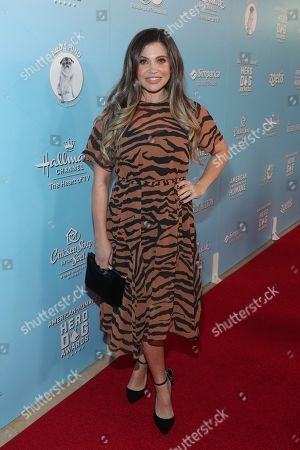Stock Image of Danielle Fishel is seen at the 2019 American Humane Hero Dog Awards at The Beverly Hilton, in Beverly Hills, Calif