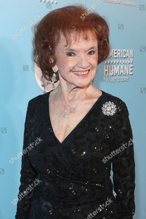 Elaine Dupont is seen at the 2019 American Humane Hero Dog Awards at The Beverly Hilton, in Beverly Hills, Calif