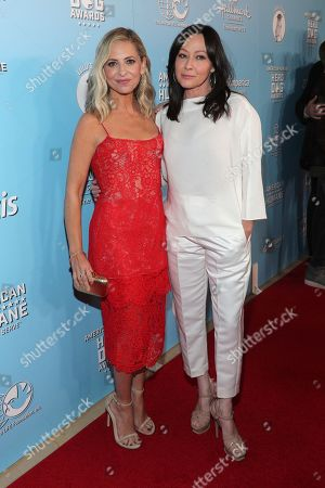 Sarah Michelle Gellar, Shannen Doherty. Sarah Michelle Gellar, left, and Shannen Doherty are seen at the 2019 American Humane Hero Dog Awards at The Beverly Hilton, in Beverly Hills, Calif