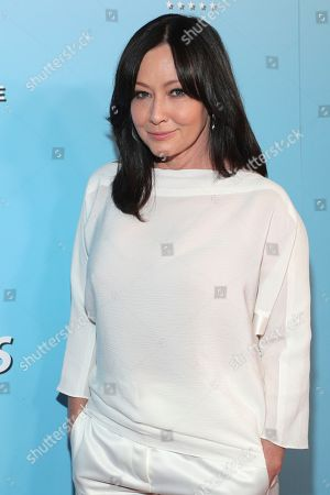 Shannen Doherty is seen at the 2019 American Humane Hero Dog Awards at The Beverly Hilton, in Beverly Hills, Calif