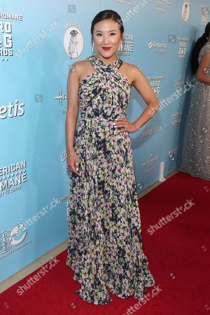 Ally Maki is seen at the 2019 American Humane Hero Dog Awards at The Beverly Hilton, in Beverly Hills, Calif