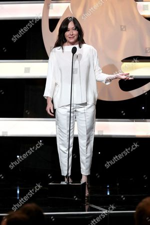Shannen Doherty speaks at the 2019 American Humane Hero Dog Awards at The Beverly Hilton, in Beverly Hills, Calif. The 2019 American Humane Hero Dog Awards airs October 21, at 8pm ET/PT on Hallmark Channel