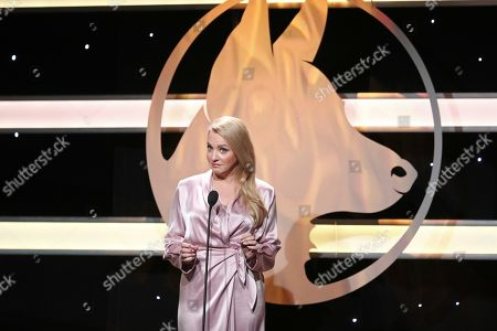 Wendi McLendon-Covey is seen at the 2019 American Humane Hero Dog Awards at The Beverly Hilton, in Beverly Hills, Calif. The 2019 American Humane Hero Dog Awards airs October 21, at 8pm ET/PT on Hallmark Channel