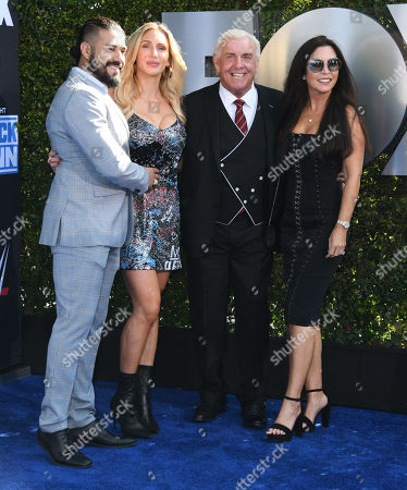 Andradeand Charlotte Flair, Richard Fliehr and Wendy Barlow