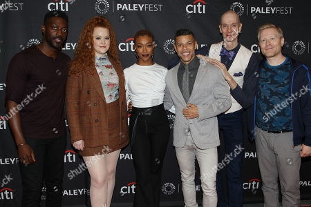 David Ajala, Mary Wiseman, Sonequa Martin-Green, Wilson Cruz, Doug Jones and Anthony Rapp