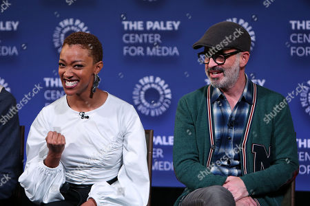 Sonequa Martin-Green and Alex Kurtzman