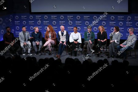 Stock Image of David Ajala, Wilson Cruz, Anthony Rapp, Mary Wiseman, Doug Jones, Sonequa Martin-Green, Alex Kurtzman, Heather Kadin, Michelle Paradise and Scott Collura