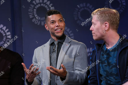 Stock Picture of Wilson Cruz and Anthony Rapp