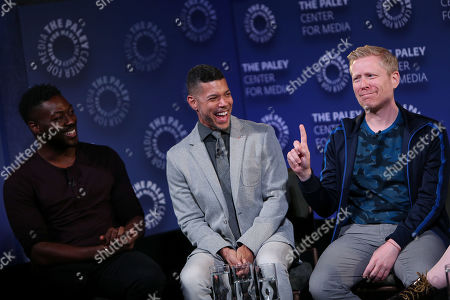 David Ajala, Wilson Cruz and Anthony Rapp