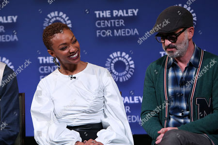 Stock Photo of Sonequa Martin-Green and Alex Kurtzman
