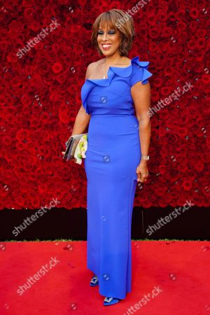 Gayle King poses for a photo on the red carpet at the grand opening of Tyler Perry Studios at Tyler Perry Studios, in Atlanta