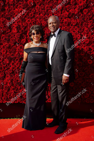 Maxine Waters, Sid Williams. Rep. Maxine Waters, D-Calif. and Sid Williams pose for a photo on the red carpet at the grand opening of Tyler Perry Studios, in Atlanta