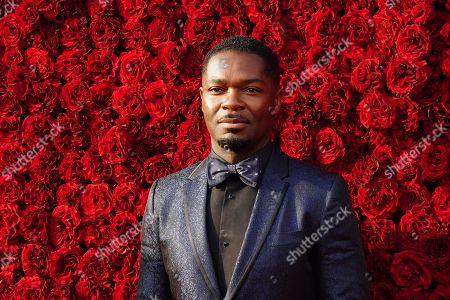 David Oyelowo poses for a photo on the red carpet at the grand opening of Tyler Perry Studios, in Atlanta
