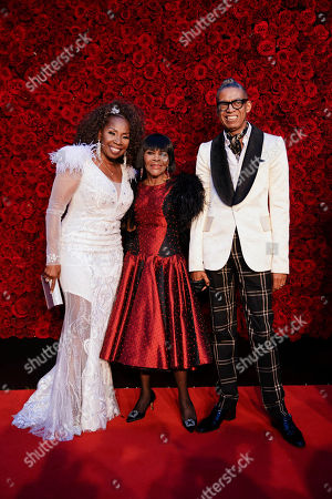 Iyanla Vanzant, Cicely Tyson. Iyanla Vanzant, from left, Cicely Tyson and guest pose for a photo on the red carpet at the grand opening of Tyler Perry Studios, in Atlanta