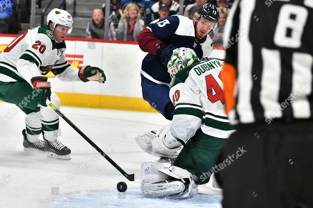 Editorial photo of Wild Avalanche Hockey, Denver, USA - 05 Oct 2019