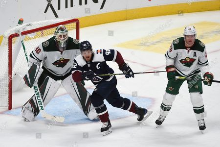 Editorial image of Wild Avalanche Hockey, Denver, USA - 05 Oct 2019