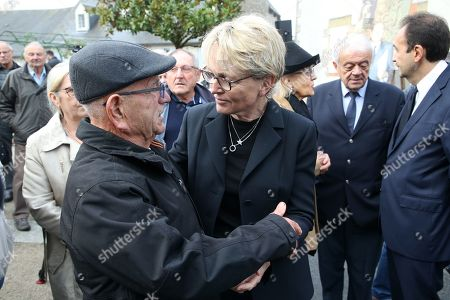 Claude Chirac attends a memorial to her late father, the former French President.