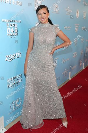 Sofia Wylie is seen at the 2019 American Humane Hero Dog Awards at The Beverly Hilton, in Beverly Hills, Calif. The 2019 American Humane Hero Dog Awards airs October 21, at 8pm ET/PT on Hallmark Channel