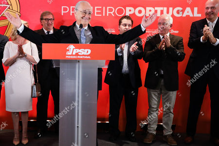 The President of Portugal's Social Democratic Party (PSD) Rui Rio (3-L) speaks at a press conference during the electoral night following the 2019 legislative elections, in Lisbon, Portugal, 06 October 2019. More than 10.8 million registered voters were called to the polls to elect the 230 deputies for the next legislature and from where the XXII Constitutional Government will take place.