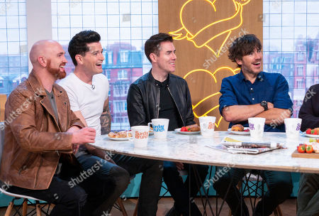 The Script - Mark Sheehan, Danny O'Donoghue and Glen Power with Simon Reeve
