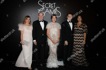 Camille Marie Kelly Gottlieb, Prince Albert II of Monaco, Princess Caroline of Hanover, Louis Ducruet and wife Marie
