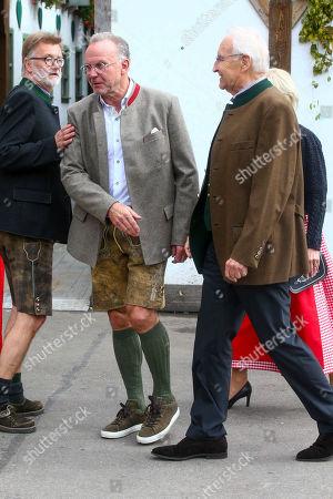 Karl - Heinz Kalle Rummenigge, Edmund Stoiber, FC Bayern at the Oktoberfest