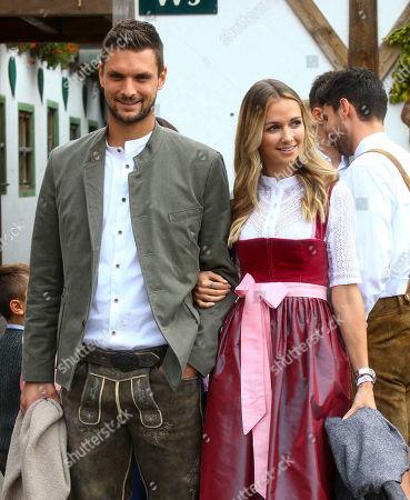 Sven Ulreich, wife Lisa, FC Bayern at the Oktoberfest