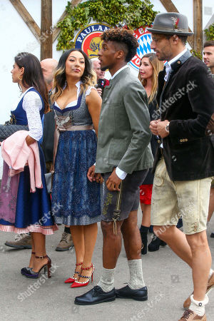 Kingsley Coman, Javi Martinez, FC Bayern at the Oktoberfest