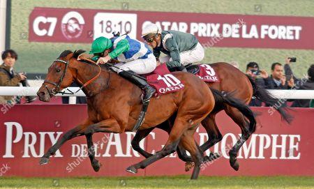 ONE MASTER (P C Boudot) wins The Qatar Prix de la Foret Longchamp