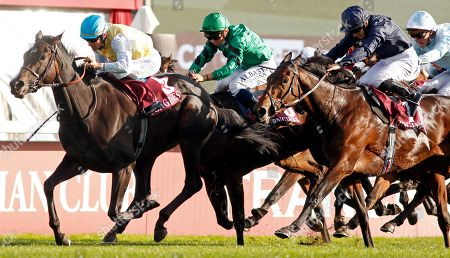 VILLA MARINA (Olivier Peslier) beats FLEETING (right) in The Prix de l'Opera Longchamp