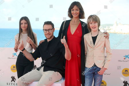 Italian actress/cast member Ginevra Francesconi, film director Robert de Feo, and actors/cast members Francesca Cavallin and Justin Korovkin pose for the photographers during the presentation of their movie 'The Nest' at the 52nd Sitges International Fantastic Film Festival, in Sitges, Catalonia, Spain, 06 October 2019. The festival runs from 03 to 13 October.