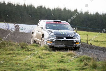 Petter Solberg(NOR)and Co/Driver Phil Mills(GBR)Volkswagen Polo R5 during the Wales Rally GB at Brenig ss19