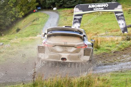 Elfyn Evans(GBR)and Co/Driver Scott Martin(GBR)Ford Fiesta WRC during the Wales Rally GB at Brenig ss19