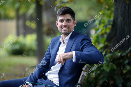 Former England cricketer Alistair Cook at the Cheltenham Literature Festival.