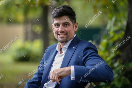 Stock Picture of Former England cricketer Alistair Cook at the Cheltenham Literature Festival.