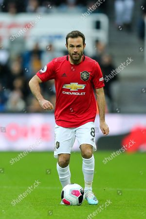 Juan Mata (#8) of Manchester United during the Premier League match between Newcastle United and Manchester United at St. James's Park, Newcastle