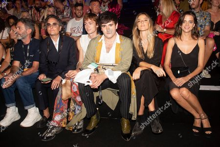 Josie, Spanish designer Alejandro Gomez Palomo, Aida Artiles and Macarena Gomez in the front row