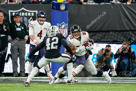 David Montgomery (RB) of the Chicago Bears in action during the International Series match between Oakland Raiders and Chicago Bears at Tottenham Hotspur Stadium, London