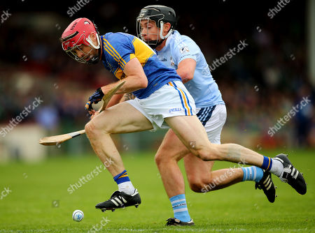 Patrickswell vs Na Piarsaigh. Patrickswell's Tom O'Brien and Kieran Kennedy of Na Piarsaigh