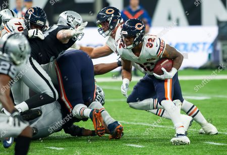 Chicago Bears Running Back David Montgomery (32) in action